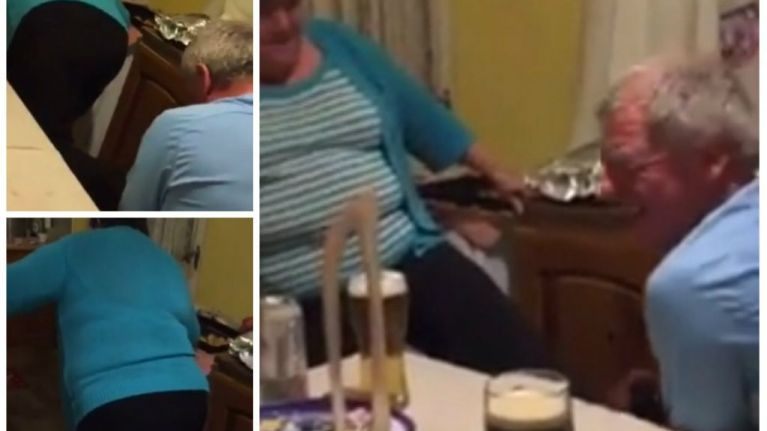 WATCH: Family completely crack up as this Dublin Mammy tries to get her shoes off on Christmas Day