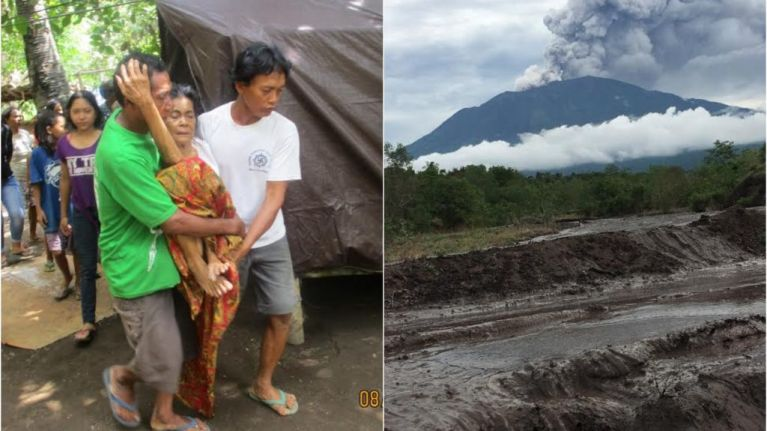 As Mount Agung bellows ash, the residents of Bali's evacuees' camps keep on keeping on
