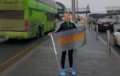An Irishwoman is walking 100km from Dublin Airport to her home in aid of mental illness