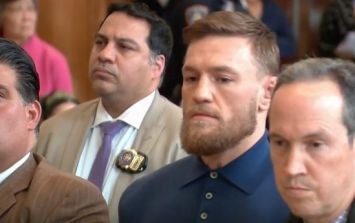 Conor McGregor accused of punching a security guard in Thursday's melee