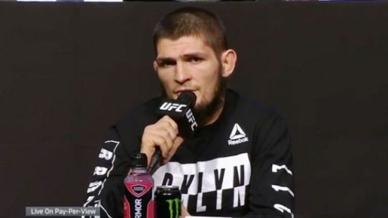 Khabib Nurmagomedov threatens to quit the UFC if they punish his teammate for post-fight brawl