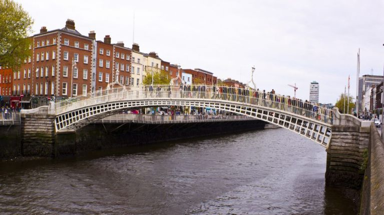 Huge 'Up the Dubs' Dublin GAA banner on Ha'penny Bridge up for review by Dublin City Council after criticism