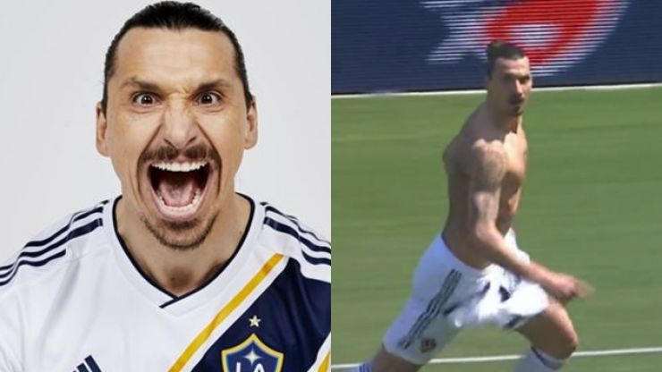 Zlatan Ibrahimović marks his LA Galaxy debut with a ridiculous 40-yard volley