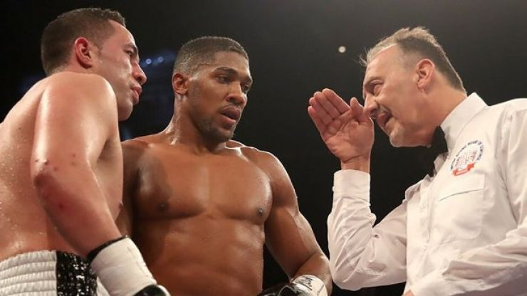 Everyone had the same thought about the referee during Anthony Joshua's victory over Joseph Parker