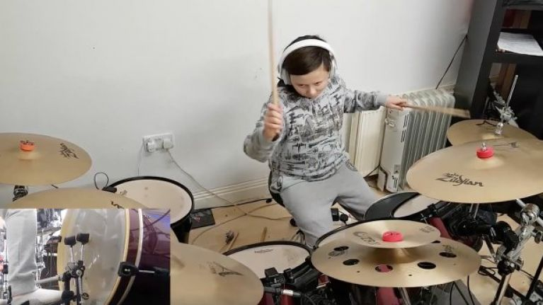 WATCH: 11-year-old Dublin girl absolutely destroys metal Taylor Swift cover on the drums