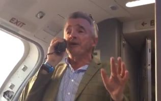 WATCH: Michael O'Leary announces free bar on Ryanair flight to Dublin on return from Grand National