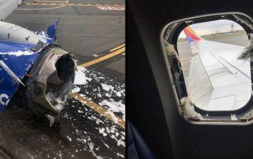 Passenger partially sucked through plane window following mid-flight engine damage