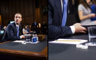 Zoomed-in photograph shows Mark Zuckerberg's secret notes for congressional hearing