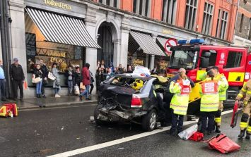 Three injured following collision between Garda car and three other vehicles in Dublin
