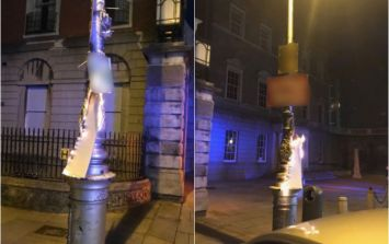 Dublin Fire Brigade called to extinguish referendum posters which had been set alight