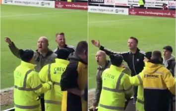 WATCH: Bolton fans clash with one another and attempt to get at manager in ugly altercation