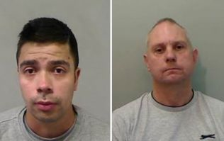Two men in custody after PSNI find them 'tied up on bench and covered in paint'