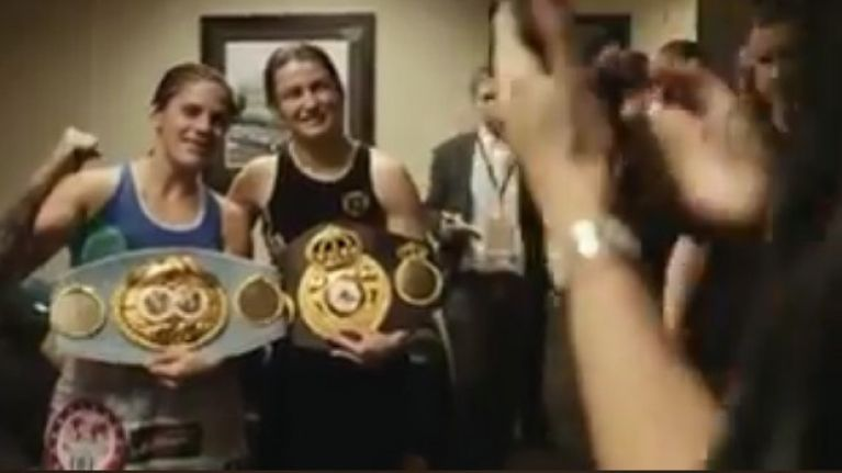 WATCH: Katie Taylor proves she is a class act during her backstage meeting with defeated opponent