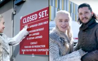 Kit Harrington stops Emilia Clarke ruining Game of Thrones Season 8 in hilarious new video