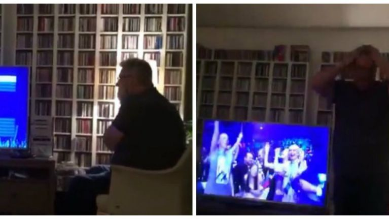 WATCH: This man's reaction to Ireland getting through to the Eurovision final is the best thing you'll see today