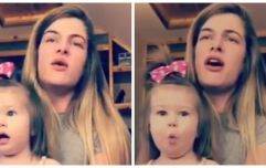 WATCH: One-year-old Irish girl is completely blown away by her mammy's amazing singing voice
