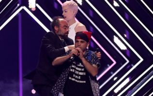 Australian commentator calls the Eurovision stage invader an 'absolute cockhead' on live TV