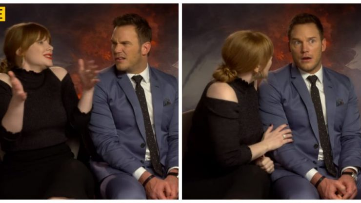 Chris Pratt's reaction to Bryce Dallas Howard's Irish holiday story is priceless