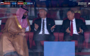 Forget the opening game, Vladimir Putin in his private box stole the show