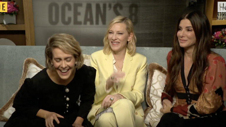WATCH: Sandra Bullock, Cate Blanchett and Sarah Paulson all hilarously attempt to do an Irish accent