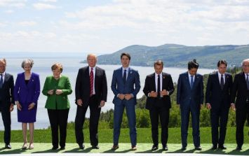 This incredible photo from the G7 summit perfectly sums up Donald Trump and world politics