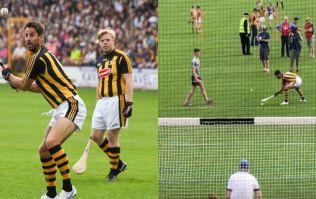 Here's how Jamie Redknapp and Freddie Flintoff got on taking penalties at Nowlan Park