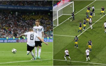 Toni Kroos' shifting of the angle on his incredible free kick cost one unlucky punter almost €6,000