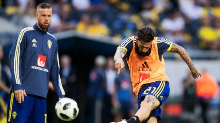 Swedish player who gave away match-winning free kick against Germany hits back at racist trolls