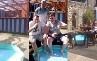 The weather was too hot for these lads on the pints in Meath, so they brought a kiddie pool to the pub