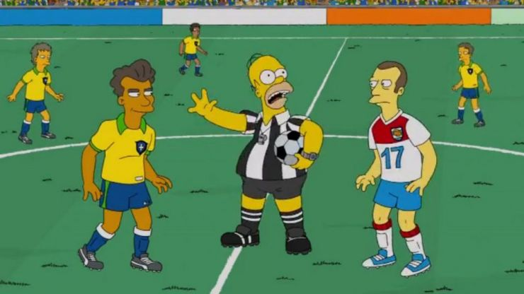 The Simpsons 'prediction' for the World Cup final remains very much on course