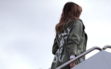 Melania Trump made an unexpected visit to the US/Mexico border, but her jacket is all anyone is talking about