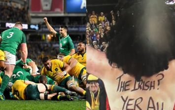 Australian fan will be eating his words after taunting every Irish supporter with this message