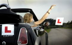 A learner driver blamed the heatwave for their L plates not being up