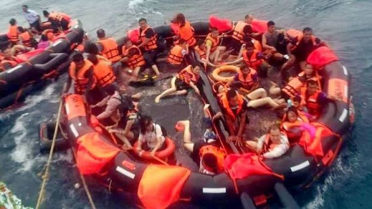 38 confirmed dead and 18 missing from tourist boat hit by storm off the coast of Thailand