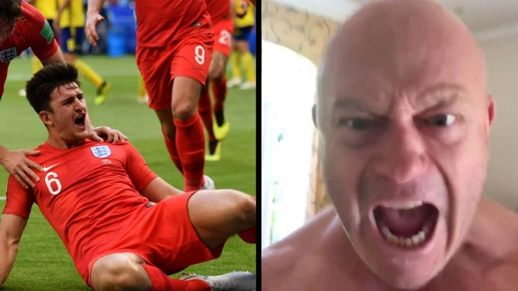 Ross Kemp records another brilliantly haunting video celebrating Harry Maguire's goal