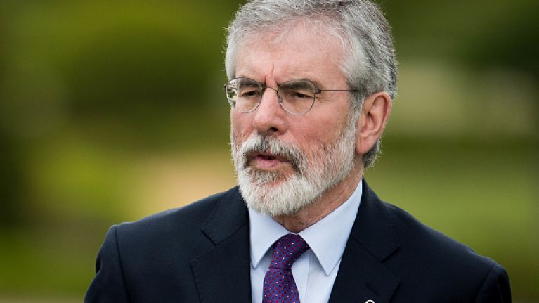 Gerry Adams has called for a referendum on Irish Unity