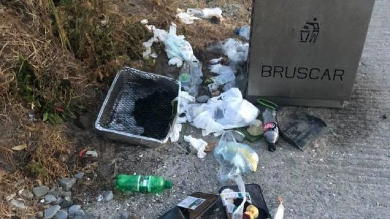 VIDEO: Another popular Irish beach destroyed by litter over the weekend