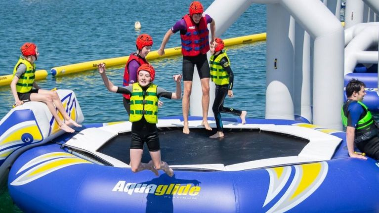 Dublin is getting an inflatable water park this weekend and it looks like some craic