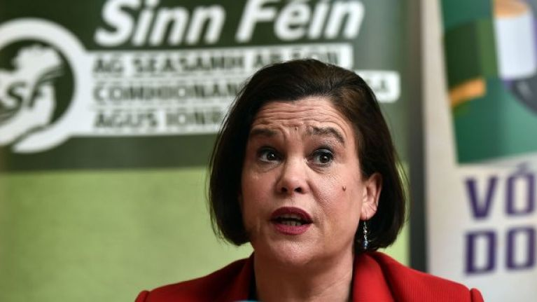 "WATCH: Mary Lou McDonald accuses the UK of ""playing chicken"" with Ireland"
