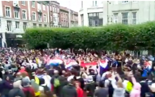 After the final, O'Connell Street in Dublin was absolutely wedged with Croatian and French fans