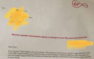 Virgin Media release statement after plenty of Irish customers receive a very peculiar letter