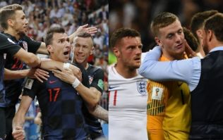 The Croatia squad have really stuck the knife into England after their semi-final win