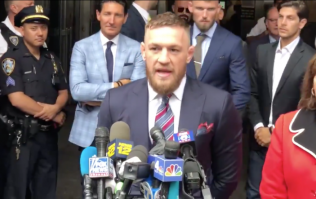 WATCH: Conor McGregor reads statement outside court in New York