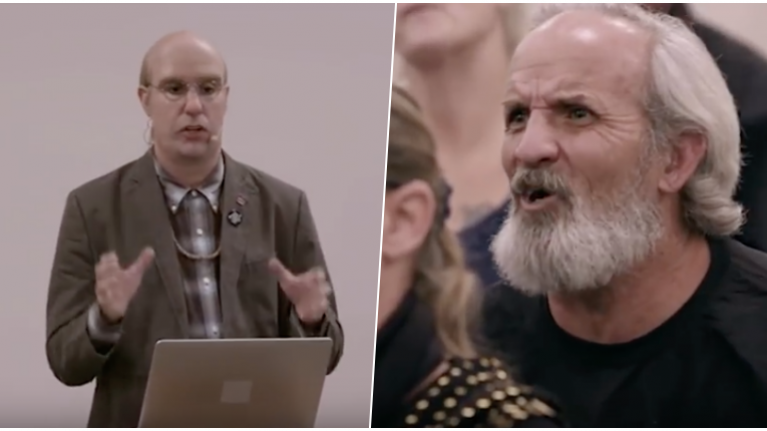 Sacha Baron Cohen tells American town about a new mosque and the reaction is pure chaos