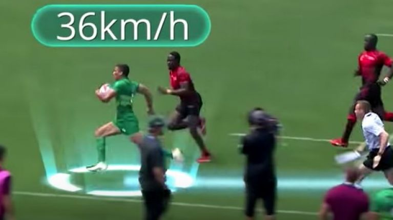 WATCH: Irish rugby player scores try while running faster than the speed limit in some parts of Dublin