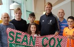 Sean Cox and his family visited by Jürgen Klopp during Liverpool's trip to Dublin