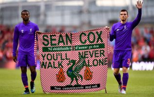 WATCH: Liverpool players' banner for Sean Cox is an incredible touch of class