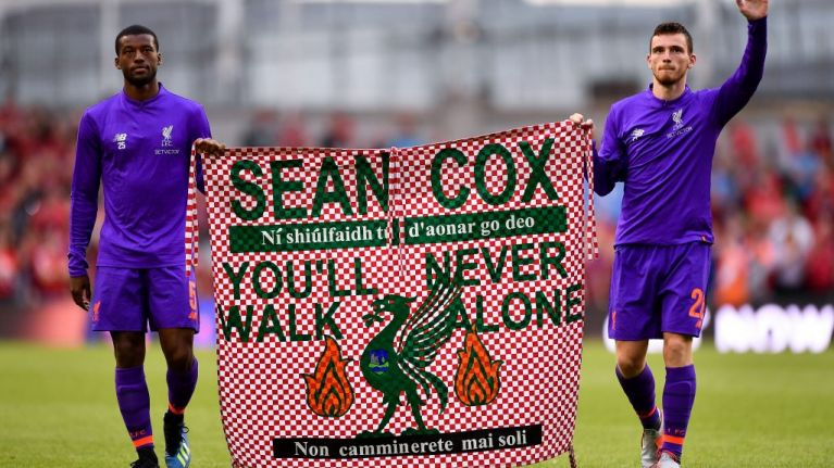 Sean Cox's brother 'disgusted' by Manchester City chants