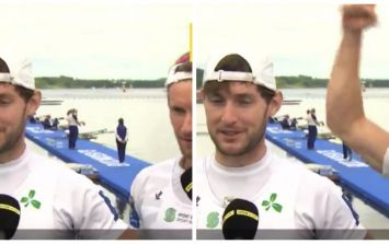 WATCH: O'Donovan Brothers give fantastic shout-out to Irish hockey team during post-race interview