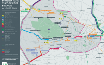 Here is the full list of roads closures taking place in Dublin during the Pope's visit